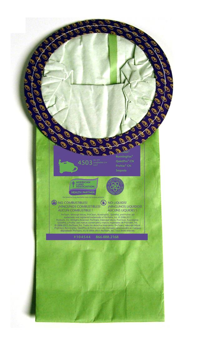 Pro-Team 104544 Open Collar Circular 10 Quart Canister Bags