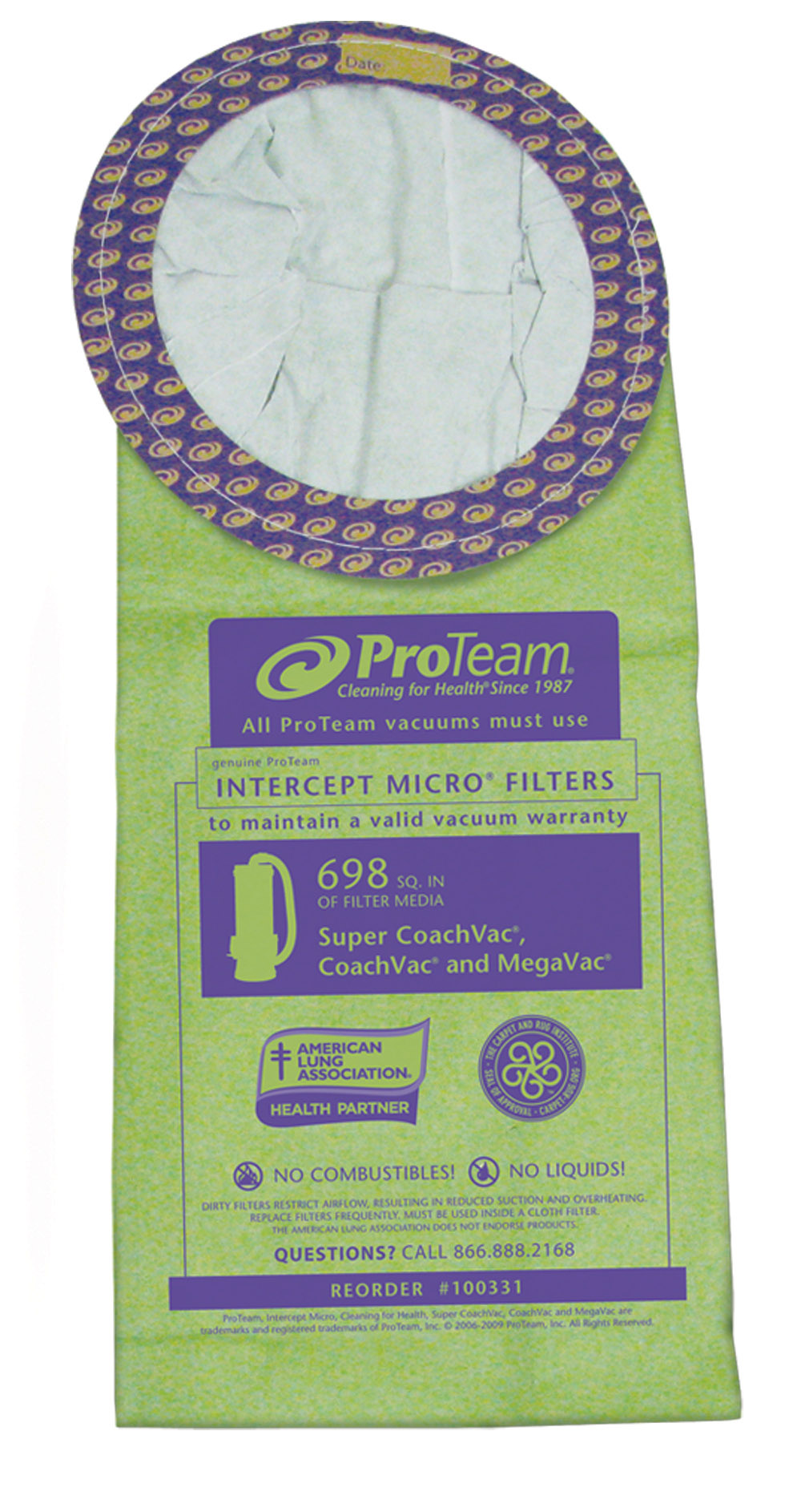 Pro-Team 100331 Open Collar Circular 6 Quart Backpack Bags